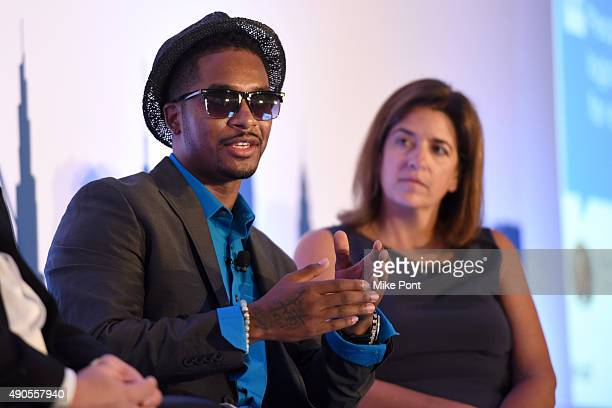 Rapper Chingy speaks onstage at the How Emotions Predict The Virality of Videos panel presented by Virool during Advertising Week 2015 AWXII at the...