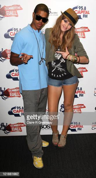 Rapper Chipmunk and singer Esmee Denters arrive at the '958 Capital FM's Summertime Ball' at Wembley Stadium on June 6 2010 in London England