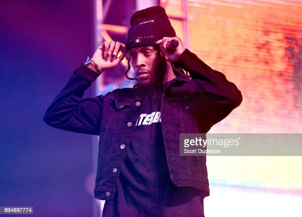 Rapper Chris Travis performs onstage during day two of the Rolling Loud Festival at NOS Events Center on December 17 2017 in San Bernardino California