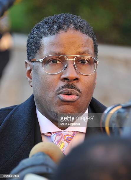 Rapper Christopher Play Martin attends the funeral service for Heavy D at Grace Baptist Church on November 18 2011 in Mount Vernon New York
