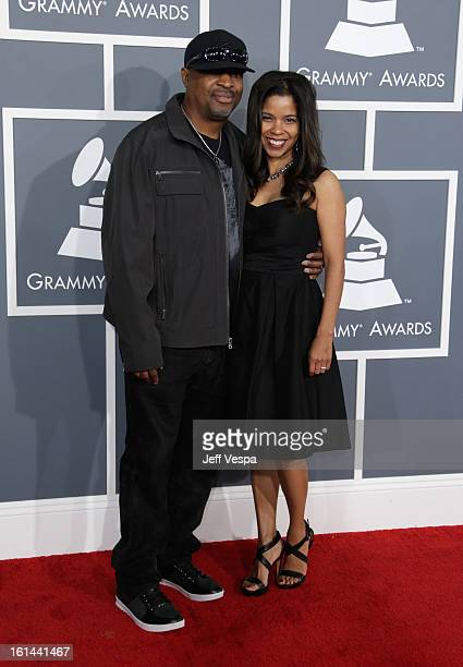 Rapper Chuck D and wife Gaye Theresa Johnson attend the 55th Annual GRAMMY Awards at STAPLES Center on February 10 2013 in Los Angeles California