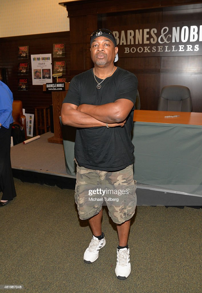 Rapper Chuck D attends a signing for Public Enemy's new album 'Man Plans God Laughs' at Barnes & Noble at The Grove on July 25, 2015 in Los Angeles, California.
