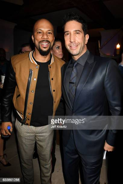 Rapper Common and actor David Schwimmer attend the Giving Back Fund's 8th Annual Big Game Big Give Charity Event at Holthouse Estate on February 4,...