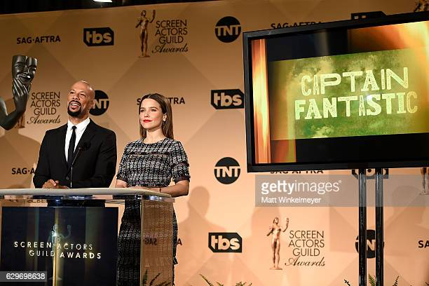 Rapper Common and actress Sophia Bush speak onstage during the SAG Awards Online Holiday Auction benefits the SAGAFTRA Foundation at Pacific Design...