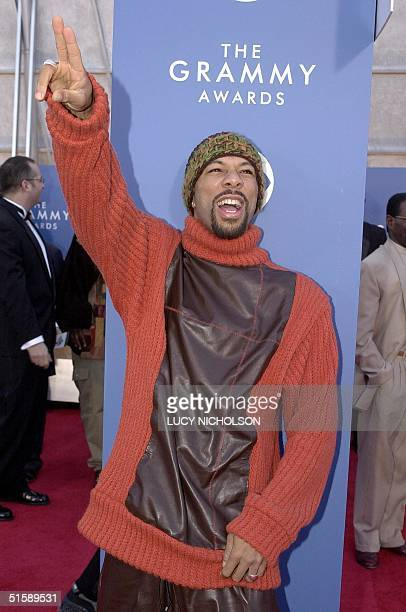 Rapper Common arrives at the 43rd Annual Grammy Awards in Los Angeles 21 February 2001 Common is nominated in the Best Rap Solo Performance category...