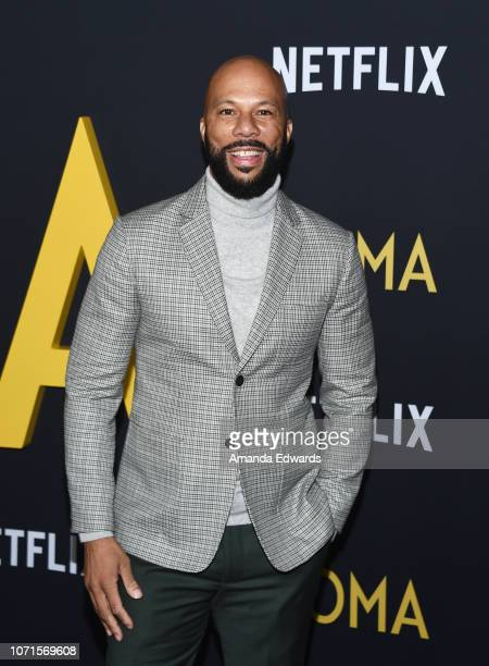 Rapper Common arrives at the Los Angeles Premiere of Alfonso Cuaron's Roma at American Cinematheque's Egyptian Theatre on December 10 2018 in...
