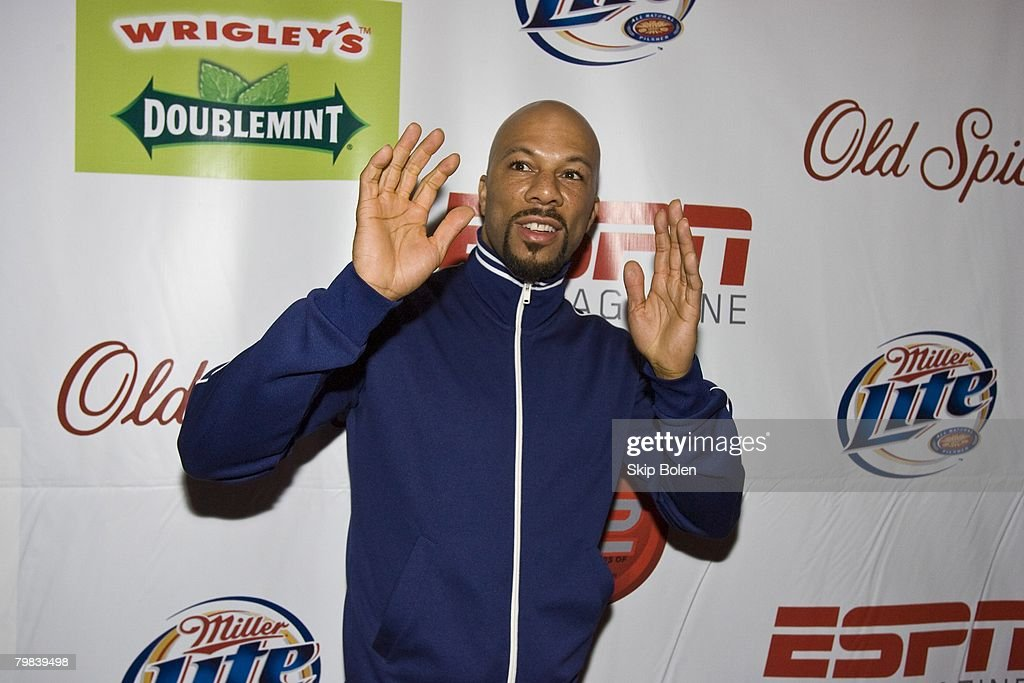 Rapper Common arriving at the ESPN The Magazine's After Dark Party in the Metropolitan Big Room at Generations Hall on February 15, 2008 in New Orleans, Louisiana.