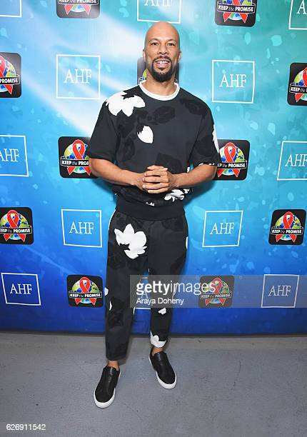 Rapper Common attends AIDS Healthcare Foundations Keep the Promise Concert at the Dolby Theatre in Hollywood CA on November 30 2016 The concert which...