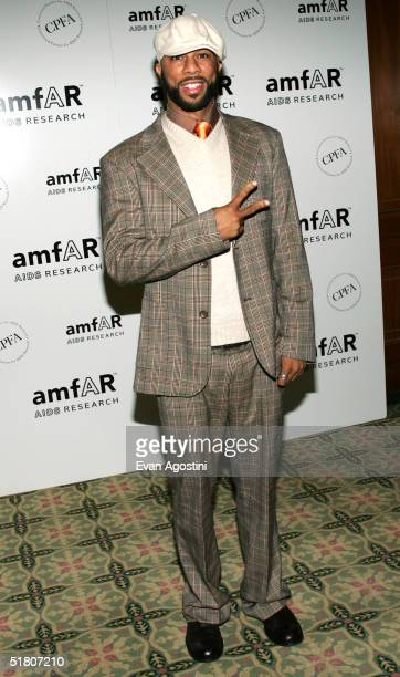 Rapper Common attends the AmFAR New York Gala at The Pierre Hotel November 30 2004 in New York City Singer and AIDS activist Patti LaBelle Viacom...