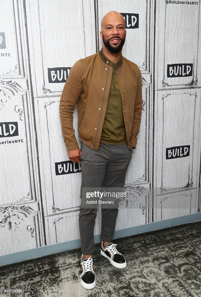 Rapper Common discusses the film '13th' at Build Studio on August 17, 2017 in New York City.