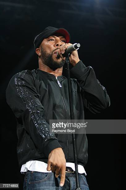 Rapper Common performs at Charter One Pavilion at Northerly Island on September 20 2007 in Chicago Illinois