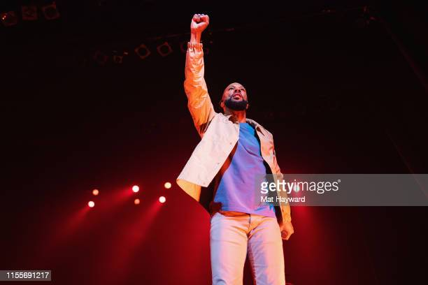 Rapper Common performs on stage at The Moore Theatre on July 14, 2019 in Seattle, Washington.
