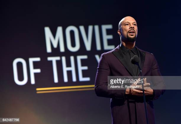 Rapper Common speaks onstage during BET Presents the American Black Film Festival Honors on February 17 2017 in Beverly Hills California