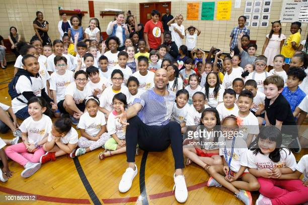 Dr Mahalia Hines visits children from PS111 NYC Elementary School for BackToSchool Fundraising with Burlington Stores and AdoptAClassroomorg on July...