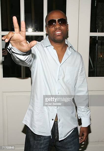 Rapper Consequence arrives at the after party for the opening night of Usher's Broadway debut in 'Chicago' at Nikki Beach August 22 2006 in New York...