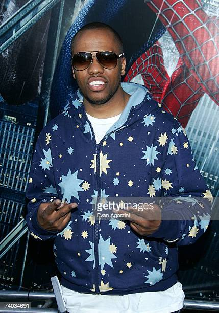 Rapper Consequence attends the premiere of 'SpiderMan 3' at the Kaufman Astoria Studios during the 2007 Tribeca Film Festival on April 30 2007 in the...