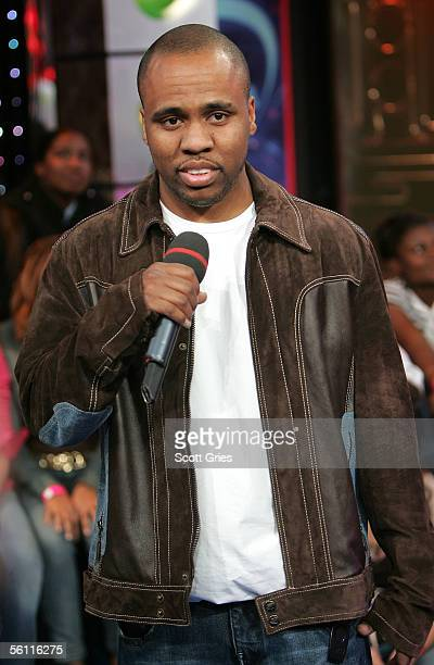 Rapper Consequence makes an appearance on MTV's Total Request Live at the MTV Times Square Studios November 7 2005 in New York City