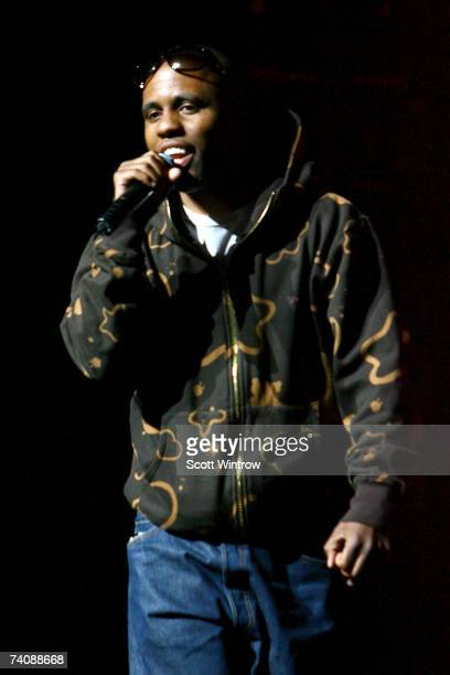 Rapper Consequence performs live during the SpiderMan 3 wrap up event at The Apollo Theatre May 6 2007 in New York City
