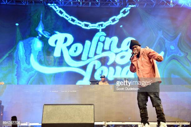 Rapper Curren$y performs onstage at the Rolling Loud Festival at NOS Events Center on December 16 2017 in San Bernardino California