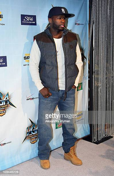 Rapper Curtis '50 Cent' Jackson arrives at Spike TV's 2008 Video Game Awards held at Sony Pictures' Studios on December 14 2008 in Culver City...