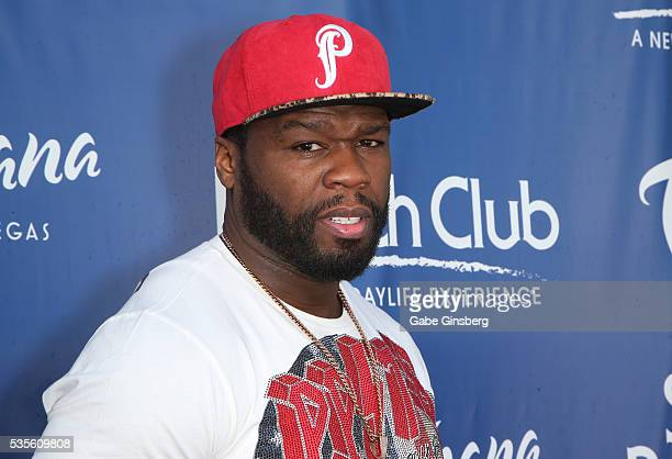 Rapper Curtis 50 Cent Jackson attends the Sky Beach Club at the Tropicana Las Vegas on May 29 2016 in Las Vegas Nevada