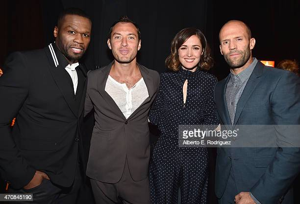 Rapper Curtis 50 Cent Jackson III actors Jude Law Rose Byrne and Jason Statham attend 20th Century Fox Invites You to a Special Presentation...