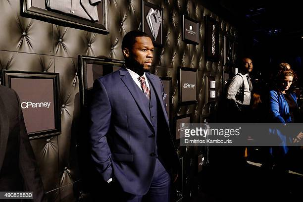 Rapper Curtis 50 Cent Jackson III attends JCPenney and Michael Strahan's launch of Collection by Michael Strahan on September 30 2015 in New York City