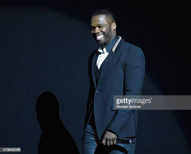Rapper Curtis 50 Cent Jackson III speaks onstage during 20th Century Fox Invites You to a Special Presentation Highlighting Its Future Release...