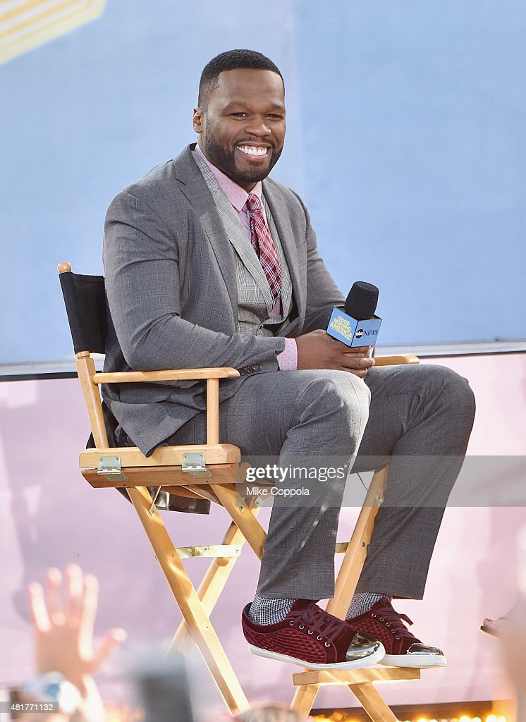 Rapper Curtis '50 Cent' Jackson performs on ABC's 'Good Morning America' at Rumsey Playfield, Central Park on July 24, 2015 in New York City.
