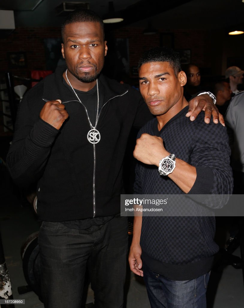 Yuriorkis Gamboa & 50 Cent Los Angeles Media Workout