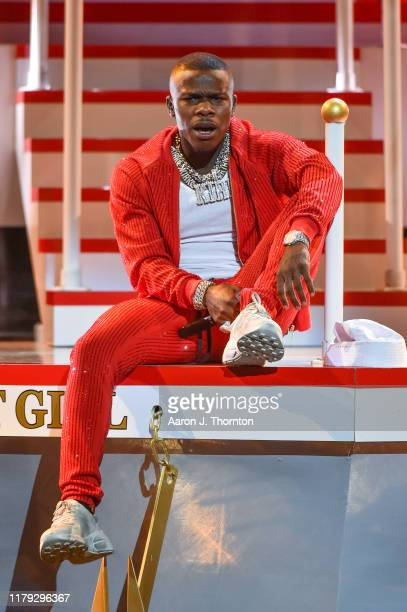 Rapper DaBaby performs onstage at the 2019 BET Hip Hop Awards at Cobb Energy Performing Arts Centre on October 05 2019 in Atlanta Georgia
