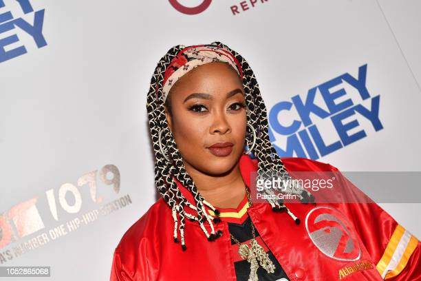 Rapper DaBrat attends Rickey Smiley For Real Season 5 Premiere screening at Regal Atlantic Station on October 23 2018 in Atlanta Georgia