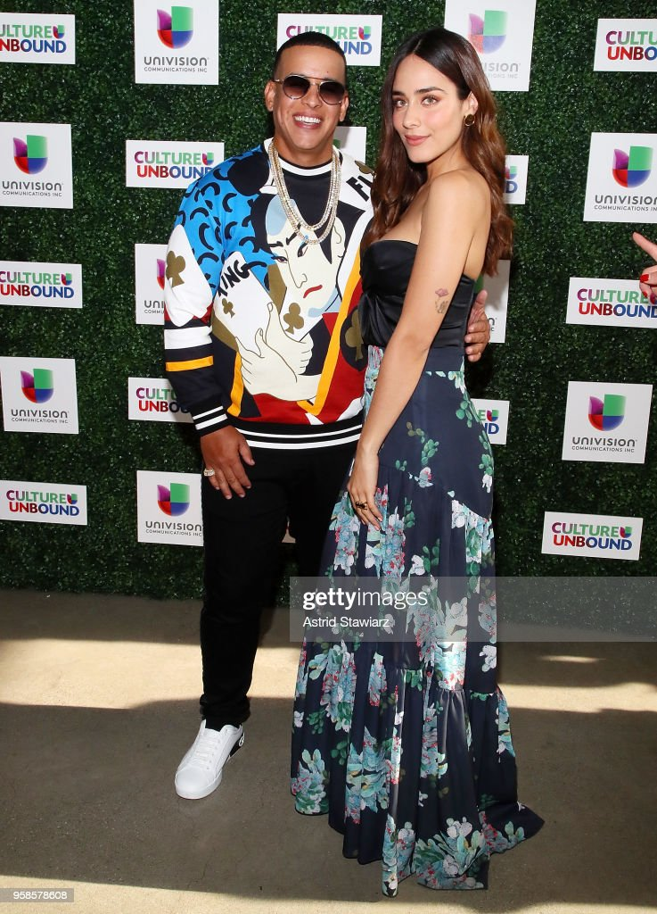 Rapper Daddy Yankee and Esmeralda Pimentel attend the 2018 Univision Upfront at Spring Studios on May 14, 2018 in New York City.