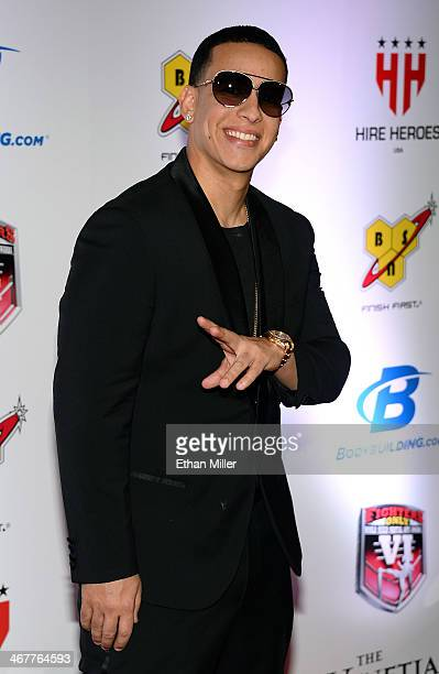 Rapper Daddy Yankee arrives at the sixth annual Fighters Only World Mixed Martial Arts Awards at The Palazzo Las Vegas on February 7 2014 in Las...