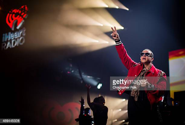 Rapper Daddy Yankee performs onstage during the iHeartRadio Fiesta Latina festival presented by Sprint at The Forum on November 22 2014 in Inglewood...