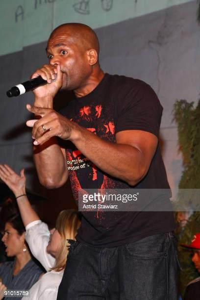 "Rapper Darryl ""D.M.C."" Matthews McDaniels performs at the Obakki spring - summer 2010 collection presentation at The Soho Grand - Yard Bar on..."