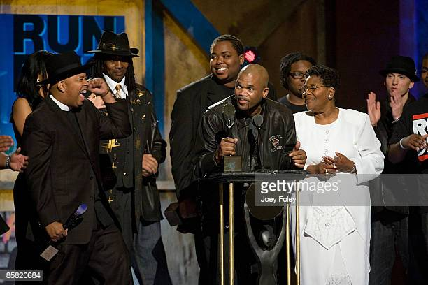 Rapper Darryl 'DMC' McDaniels speaks onstage as Run DMC is inducted during the 24th Annual Rock and Roll Hall of Fame Induction Ceremony at Public...