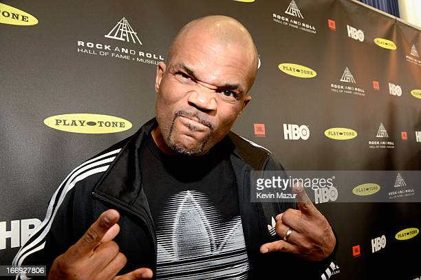 Rapper Darryl McDaniels attends the 28th Annual Rock and Roll Hall of Fame Induction Ceremony at Nokia Theatre LA Live on April 18 2013 in Los...