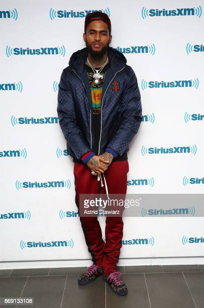 Rapper Dave East visits the SiriusXM Studios on November 1 2017 in New York City