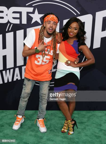 Rapper Dee1 and singer Reginae Carter attend the BET Hip Hop Awards 2017 at The Fillmore Miami Beach at the Jackie Gleason Theater on October 6 2017...