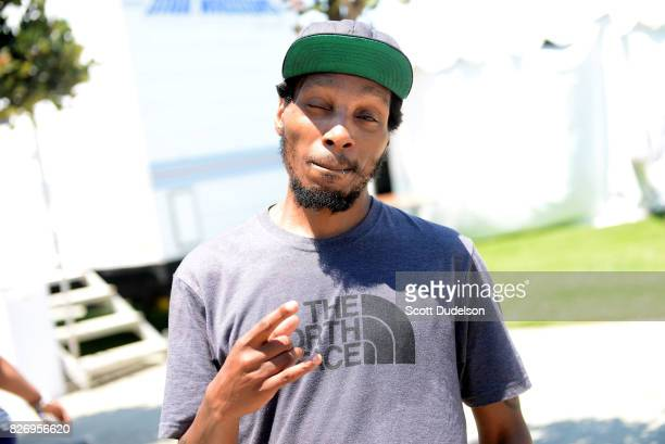 Rapper Del the Funky Homosapien of Deltron 3030 and Heiroglyphics attends the Summertime in the LBC festival on August 5 2017 in Long Beach California