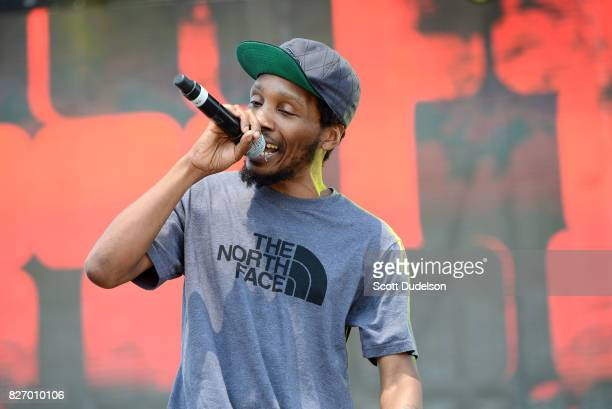 Rapper Del the Funky Homosapien of Deltron 3030 and Heiroglyphics performs onstage at the Summertime in the LBC festival on August 5 2017 in Long...