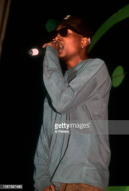 Rapper Del The Funky Homosapien performs at The Apollo Theater on February 22 1991 in New York City