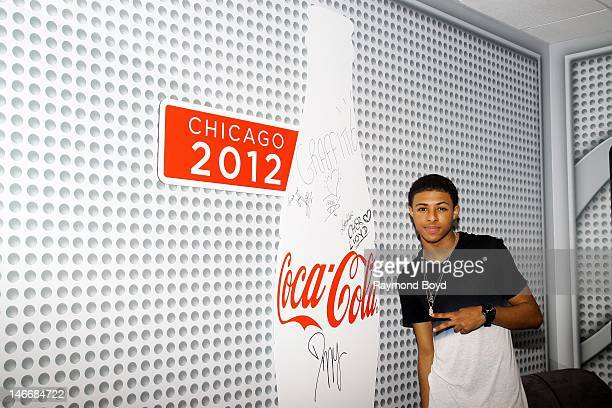 Rapper Diggy Simmons poses for photos in the WGCIFM CocaCola Lounge in Chicago Illinois on JUNE 20 2012
