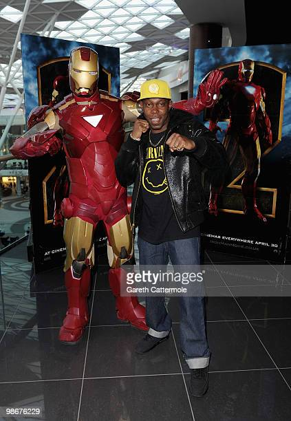 Rapper Dizzee Rascal attends the 'Iron Man 2' VIP screening at Vue cinema Westfield on April 26 2010 in London England