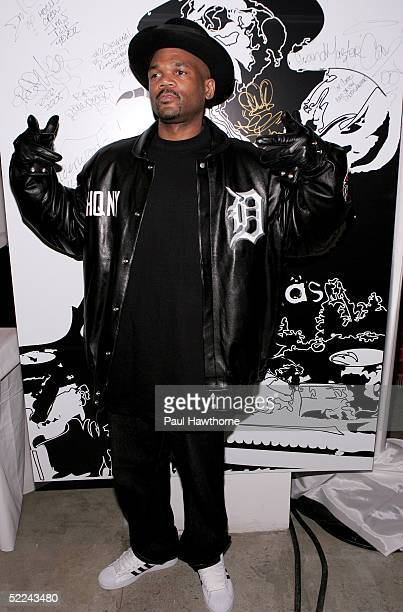 Rapper DMC attends the 35th anniversary of the Addidas superstar sneaker honoring the life of Jam Master Jay at Skylight Studios on February 25 2005...