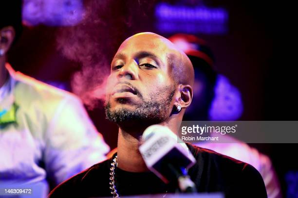 Rapper DMX attends the 2012 Rock the Bells Festival press conference and fan appreciation party at Santos Party House on June 13 2012 in New York City