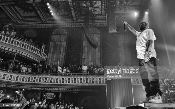 Rapper DMX performs in concert during his 20th Anniversary It's Dark and Hell is Hot tour at The Tabernacle on April 12 2019 in Atlanta Georgia