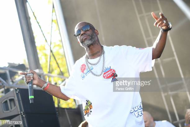 Rapper DMX performs onstage during 10th Annual ONE Musicfest at Centennial Olympic Park on September 08 2019 in Atlanta Georgia