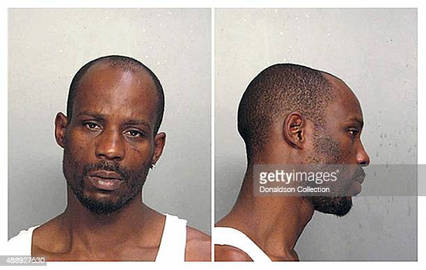 Rapper DMX poses for a mugshot after his arrest for driving without a license in June 2008 in Miami Florida